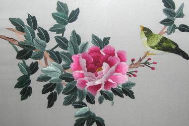 蜀绣大树风景图片